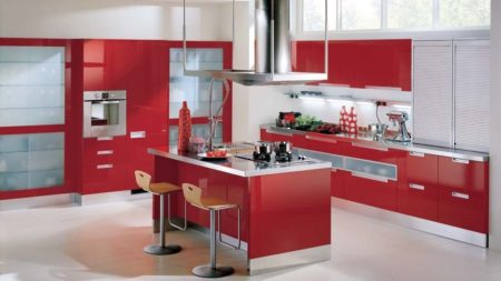 Kitchen Space - Vertical Metal Tambour Door