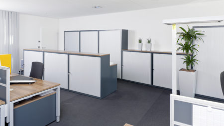 Office Space - Locking Horizontal Metal Tambour Door