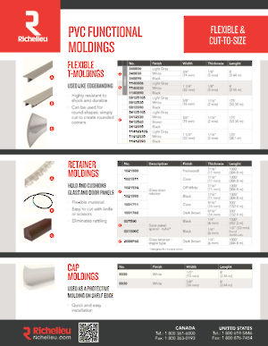 Moldings and Profiles - Richelieu Hardware