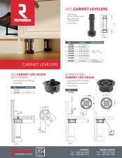 Cabinet Levelers Selling sheet