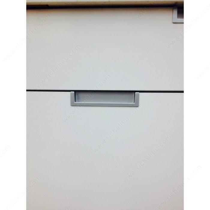 Poign e contemporaine encastr e en m tal 6167 for Miroir 50in projector specs