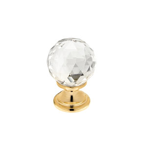 Contemporary Swarovski Crystal and Gold/Brass Knob - 993