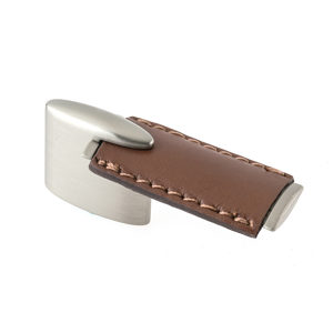 Contemporary Leather and Metal Pull - 7451