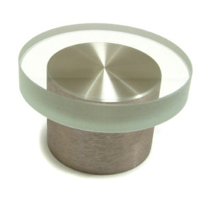 Contemporary Metal & Glass Knob - 4530