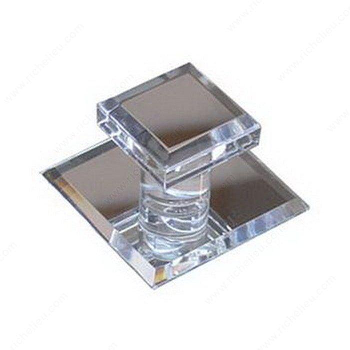 Contemporary Acrylic Knob for Glass Doors - 500-2