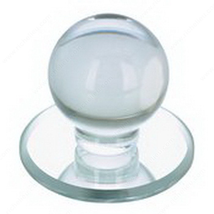 Contemporary Acrylic Knob for Glass Doors - 503-2