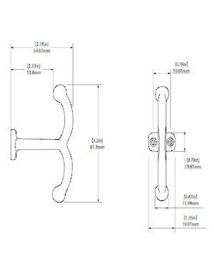 Utility Metal Hook 6215 Richelieu Hardware. Line Art. Wiring. Woods 6215 Wiring Diagrams At Scoala.co