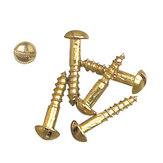 Decorative Wood Screws, Slotted Round Head, Regular Thread, Regular Wood Point