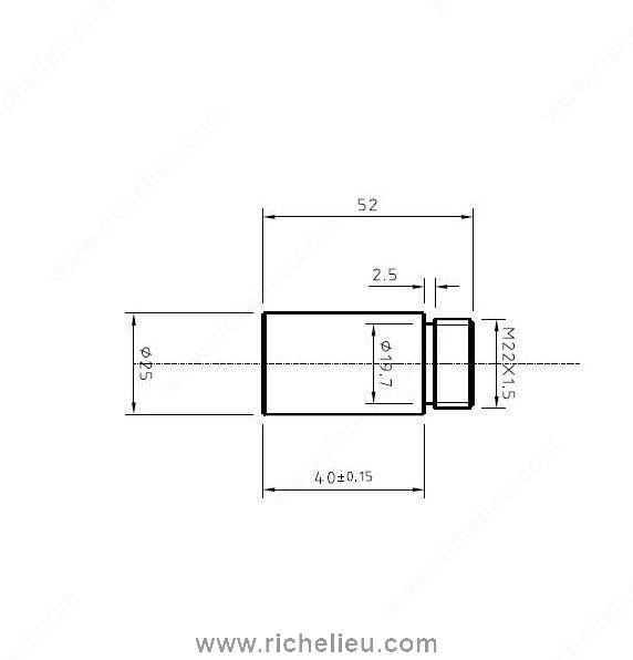 extension pour patte de meuble quincaillerie richelieu. Black Bedroom Furniture Sets. Home Design Ideas