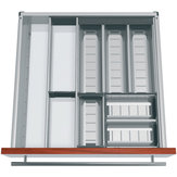 Modular Orgaline kit for cutlery. For 550 mm (22 in.)-deep by 550 mm (22 in.) wide drawers.