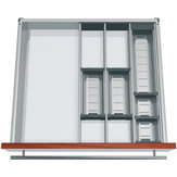 Modular Orgaline kit for small accessories. For 550 mm (22 in.)-deep by 450 mm (18 in.)-wide drawers.