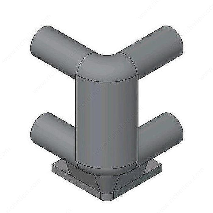 pi ces d 39 angle double pour tablette coulissante quincaillerie richelieu. Black Bedroom Furniture Sets. Home Design Ideas
