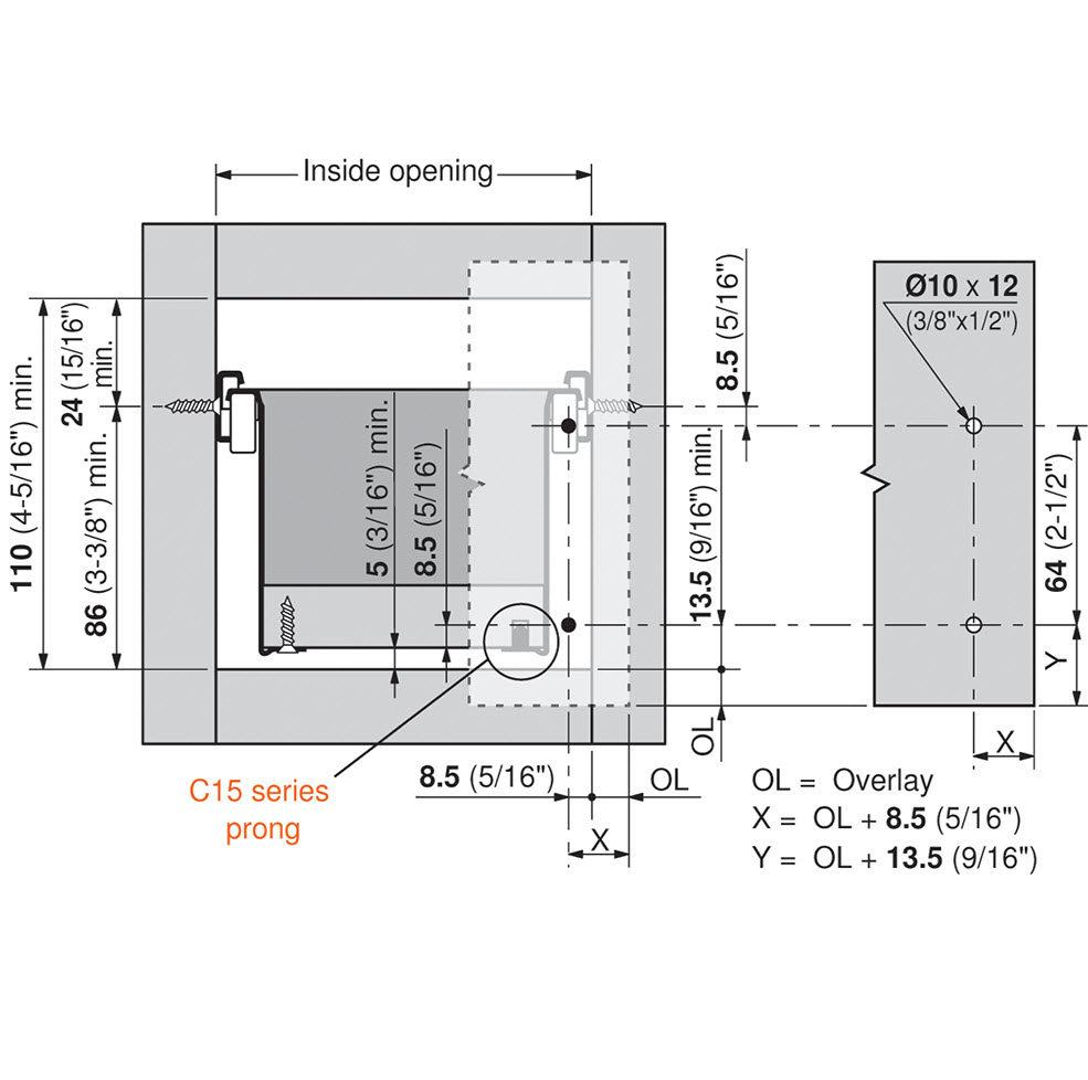 Metabox Series 320m C15 Partial Extension Drawer Sides Us