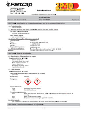 US Safety Data sheets
