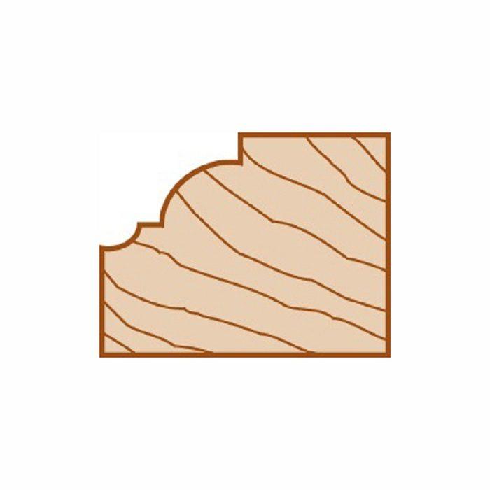 Broca de fresado para molduras de riel de silla de aleaci/ón de carburo cortador de fresado para carpinter/ía con v/ástago de 1//2 pulg.