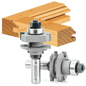 Ogee Stile & Rail Router Bit Sets for 3/4 to 1 Inch Material (2 pc)