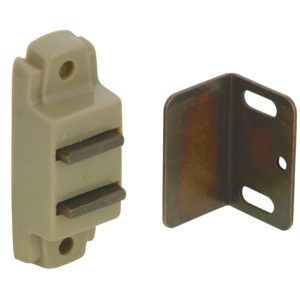 Magnetic Plastic Latch - Plate and Screws