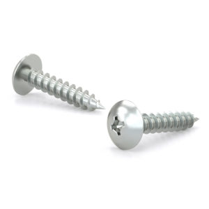 Zinc Plated Metal Screw, Truss Head, Quadrex Drive, Self-Tapping Thread, Type A Point