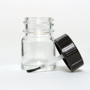Glass Jar with Brush