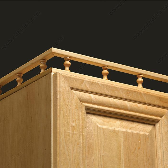 Kitchen Cabinet With Brass Rail