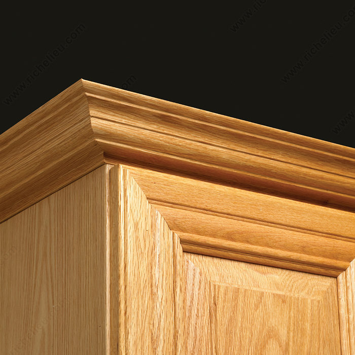 Molding 0010 richelieu hardware for Oak crown molding for kitchen cabinets