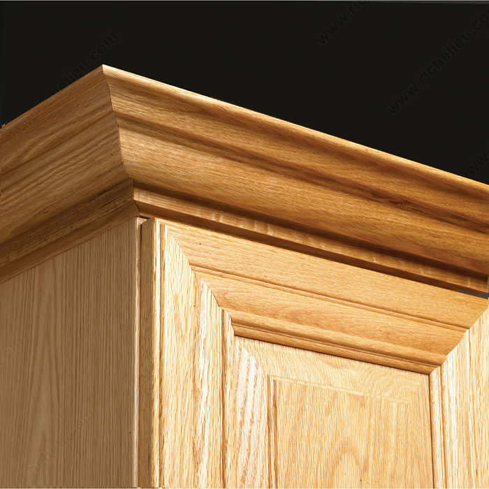 Molding 003 richelieu hardware for Oak crown molding for kitchen cabinets