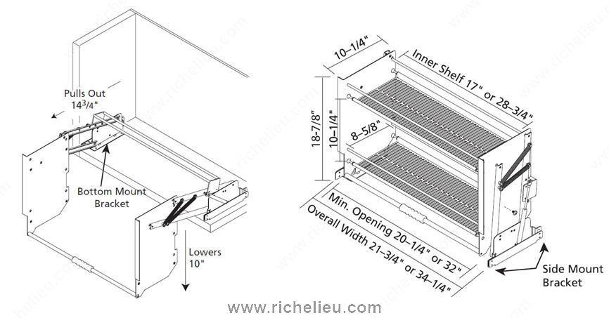 pull down shelf richelieu hardware. Black Bedroom Furniture Sets. Home Design Ideas
