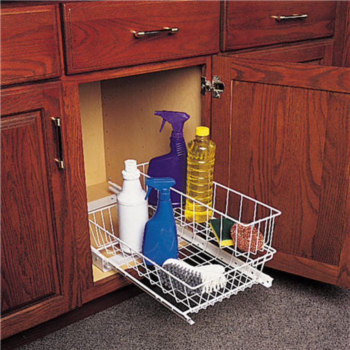 Kitchen Cabinet Baskets: Pull-Out Undersink Basket