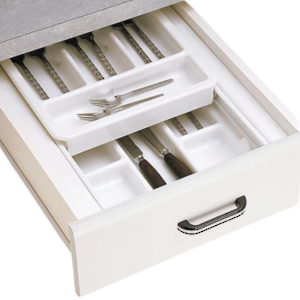 Double-Tiered Cutlery Tray