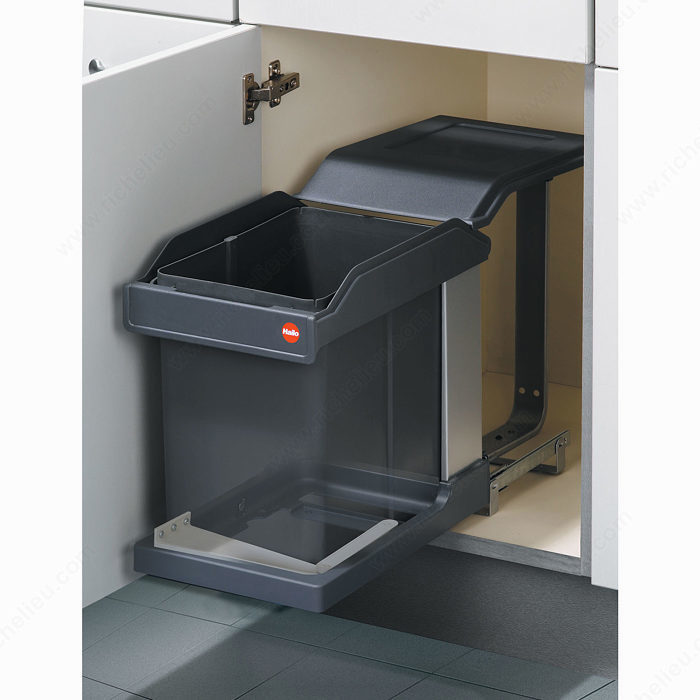 Gentil Sliding Waste Bin   20 L With Door Follower Mechanism   Richelieu Hardware