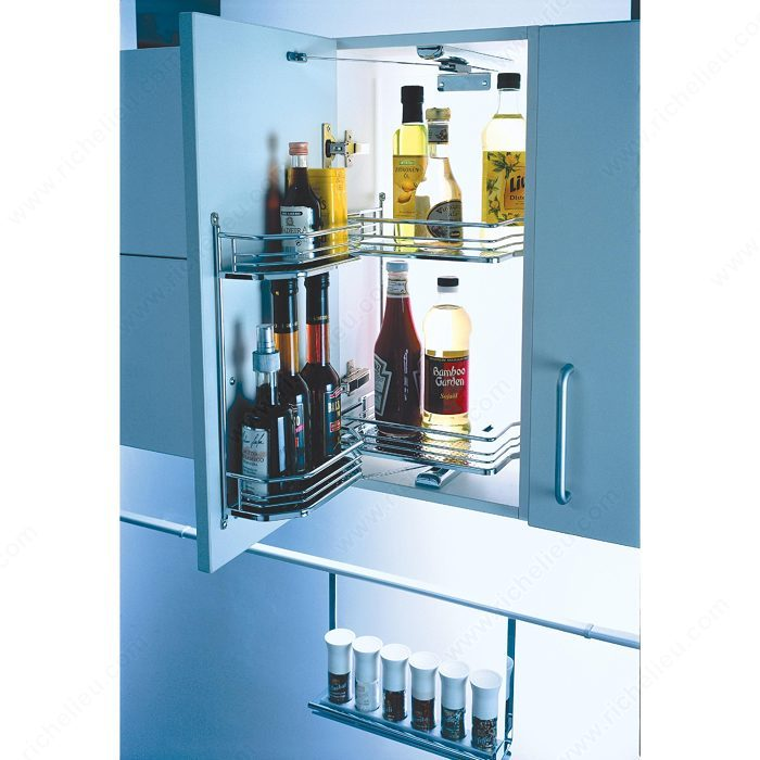 Kitchen Cabinet Accessories Pull Out: Tandem Swivel Pull-Out System