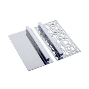 Contemporary Metal Pull and Decorative Plate Set - 1521