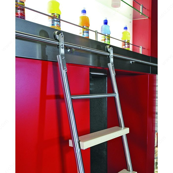 Stainless Steel 8-Step Sliding Ladder Set -7
