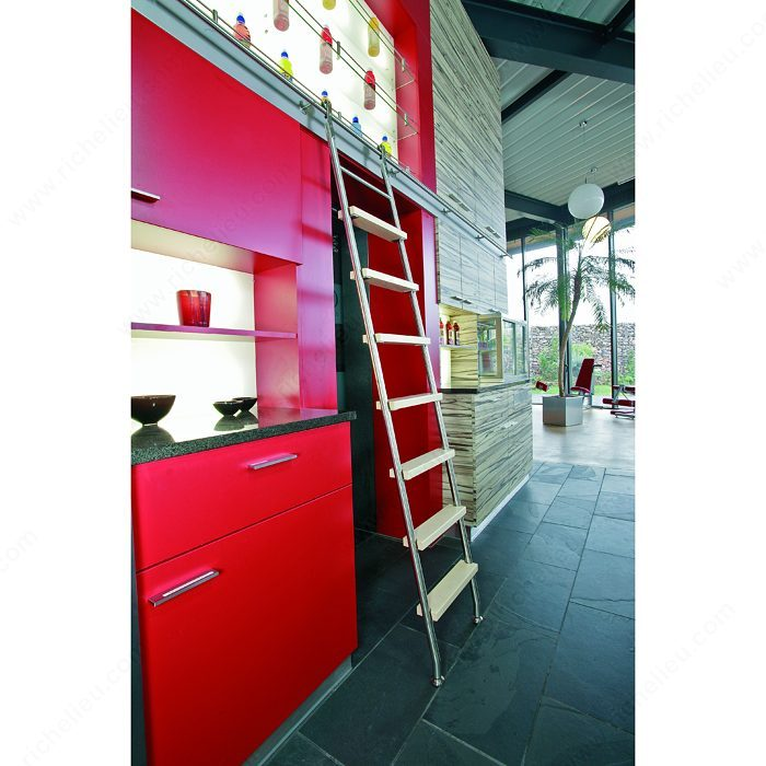 Stainless Steel 8-Step Sliding Ladder Set -1