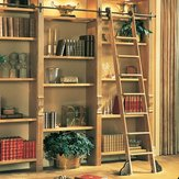 Rolling Ladder Kit - Red Oak