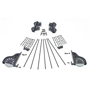 Black Satin Hardware Kit for 7-Step Wood Rolling Ladder