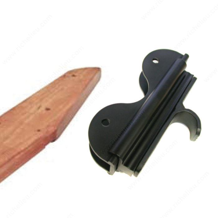 Kit de herraje negro satinado con gancho para escalera de madera de 7 pelda os 622105900 - Peldanos de madera para escalera precios ...