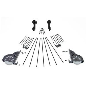 Black Satin Hardware Kit with Hook for 7-Step Wood Ladder