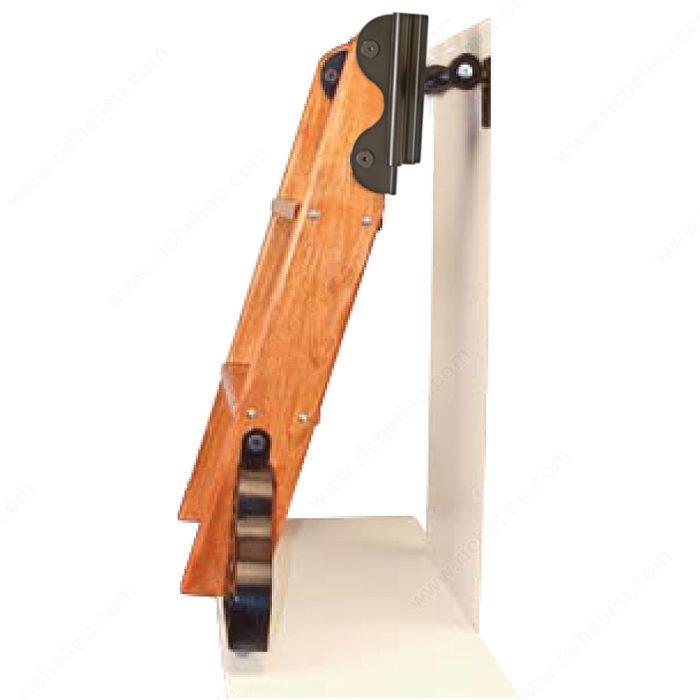 Black Satin Hardware Kit With Hook For 7 Step Wood Ladder