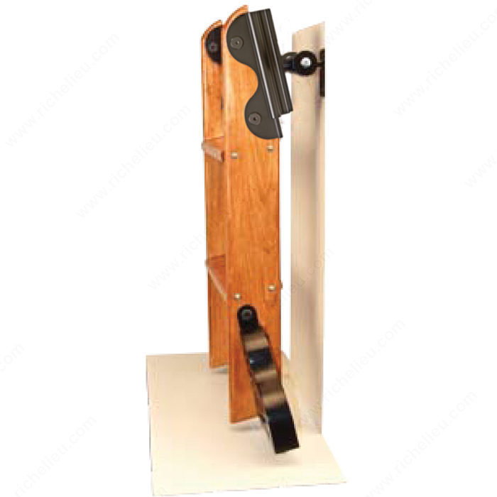 Black Satin Hardware Kit With Hook For 7 Step Wood Ladder