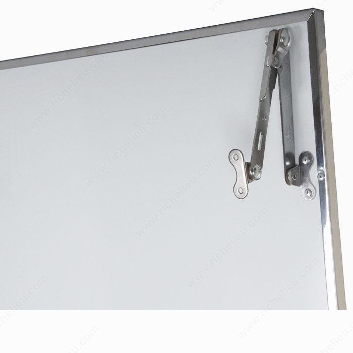 Miroir encadr dans un profil en acier inoxydable for Miroir encadre