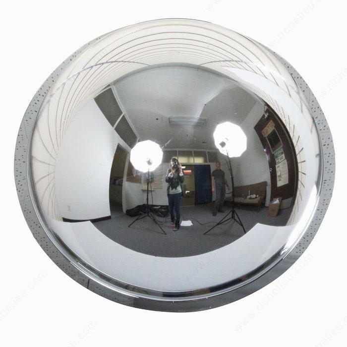 miroir de s curit h misph rique de 360 en acrylique quincaillerie richelieu. Black Bedroom Furniture Sets. Home Design Ideas
