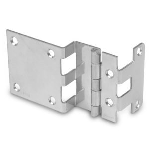 "3/8"" Overlay Institutional Hinge with Extended Side Panel Leaf"