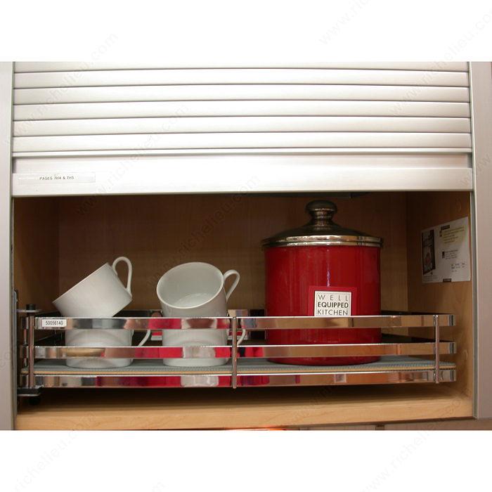 tambour door aluminum finish 20 mm slats richelieu. Black Bedroom Furniture Sets. Home Design Ideas