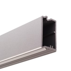 Polypropylene Handle Profile for Lock Installation, Aluminum Finish