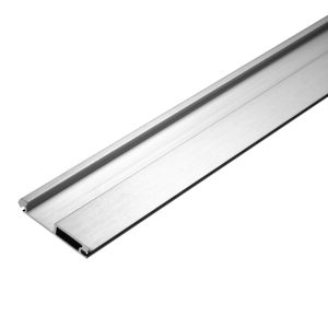 Non-Locking Metallic Handle Profile, Stainless Steel Finish