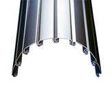 Metallic Line Tambour Slats - Stainless Steel Finish