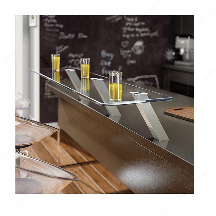 Adaptateur carr pour coller une plaque de verre for Plaque de verre pour cuisine