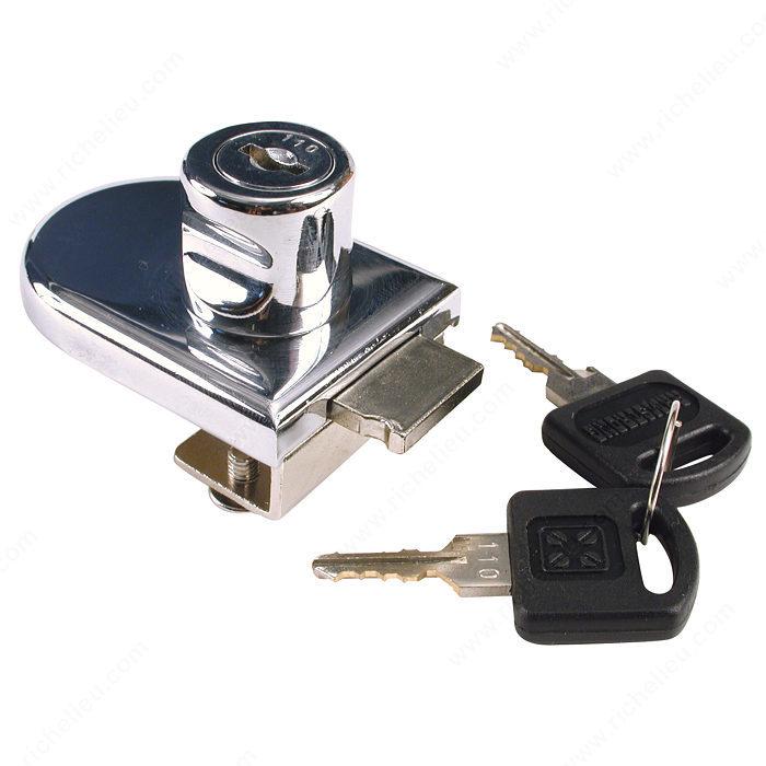 No-Drill Glass Door Lock - Richelieu Hardware