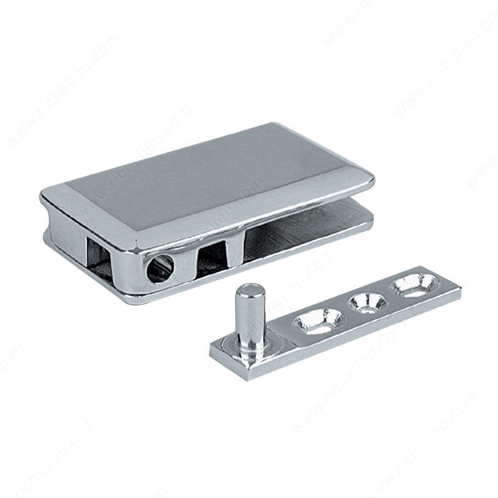 Pivot Hinge for Glass Door Recessed in Cabinet/Furniture - Richelieu